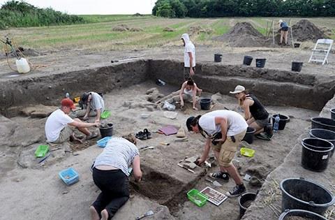 Ausgrabungen und Sammlung botanischer Proben