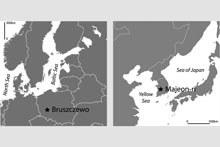 Karte Bruszczewo