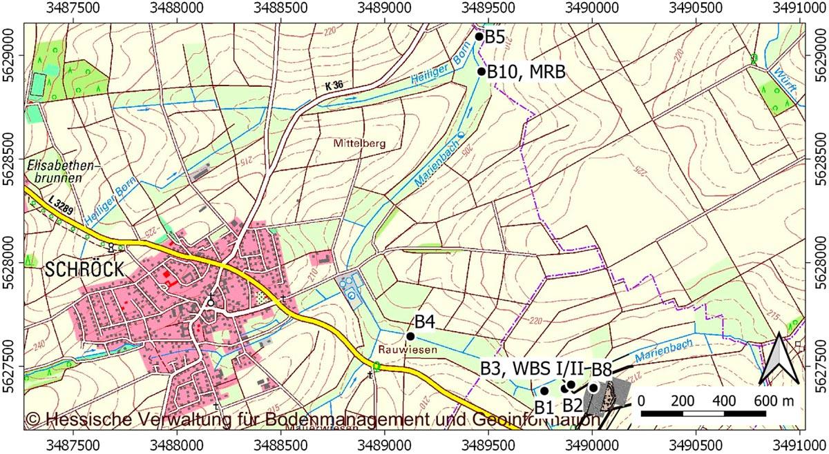 Übersichtskarte von Wittelsberg