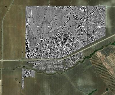 Die geomagnetische Untergrundkarte von Monte da Contenda