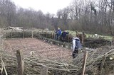 Sowing the spring grain at the Archaeological Ecological Centre Albersdorf