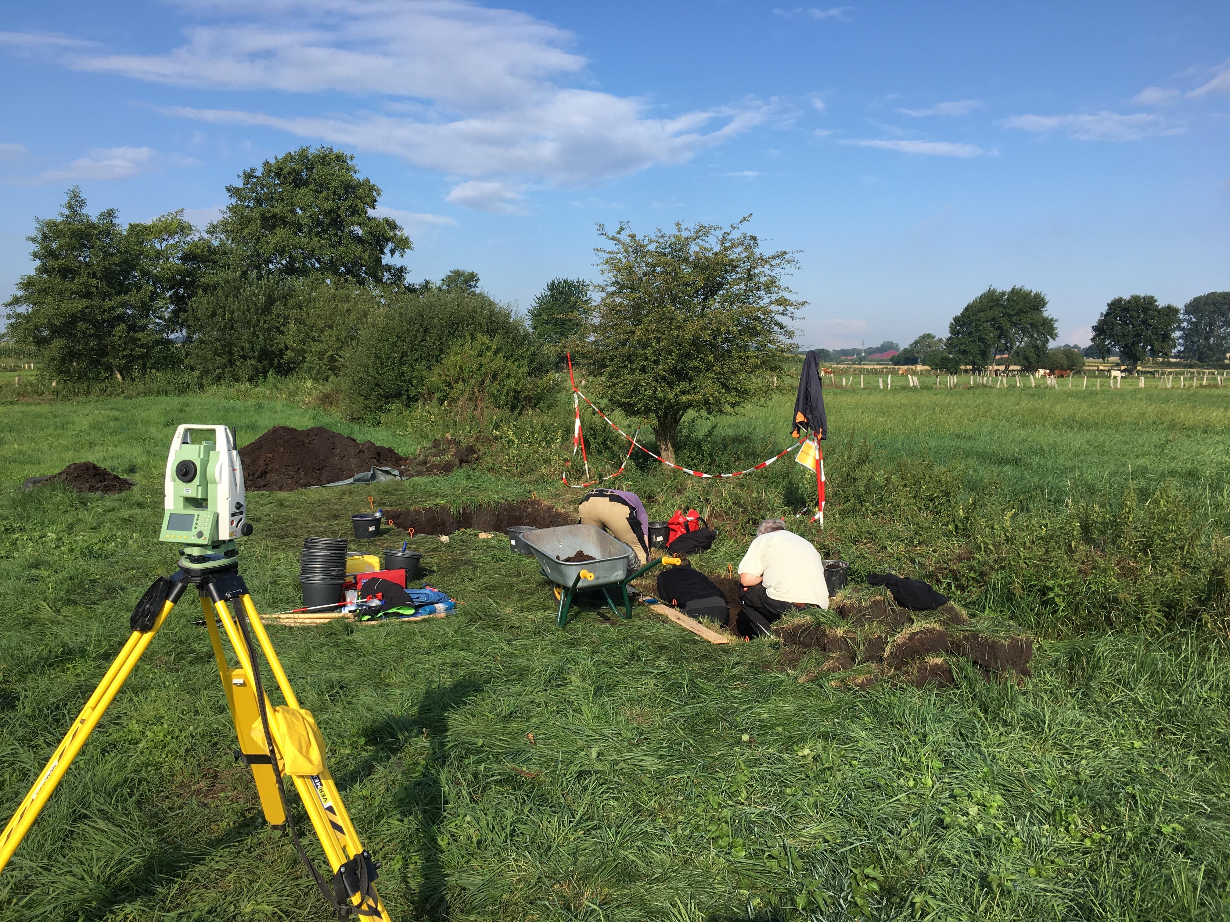 Test trenching at Duvensee
