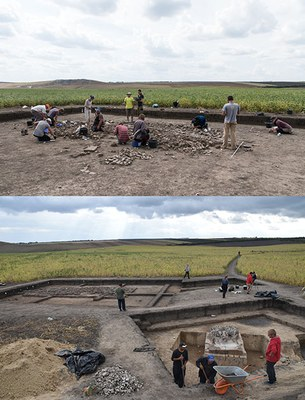 Excavation of a Copper Age potters workshop in Stolniceni 2017