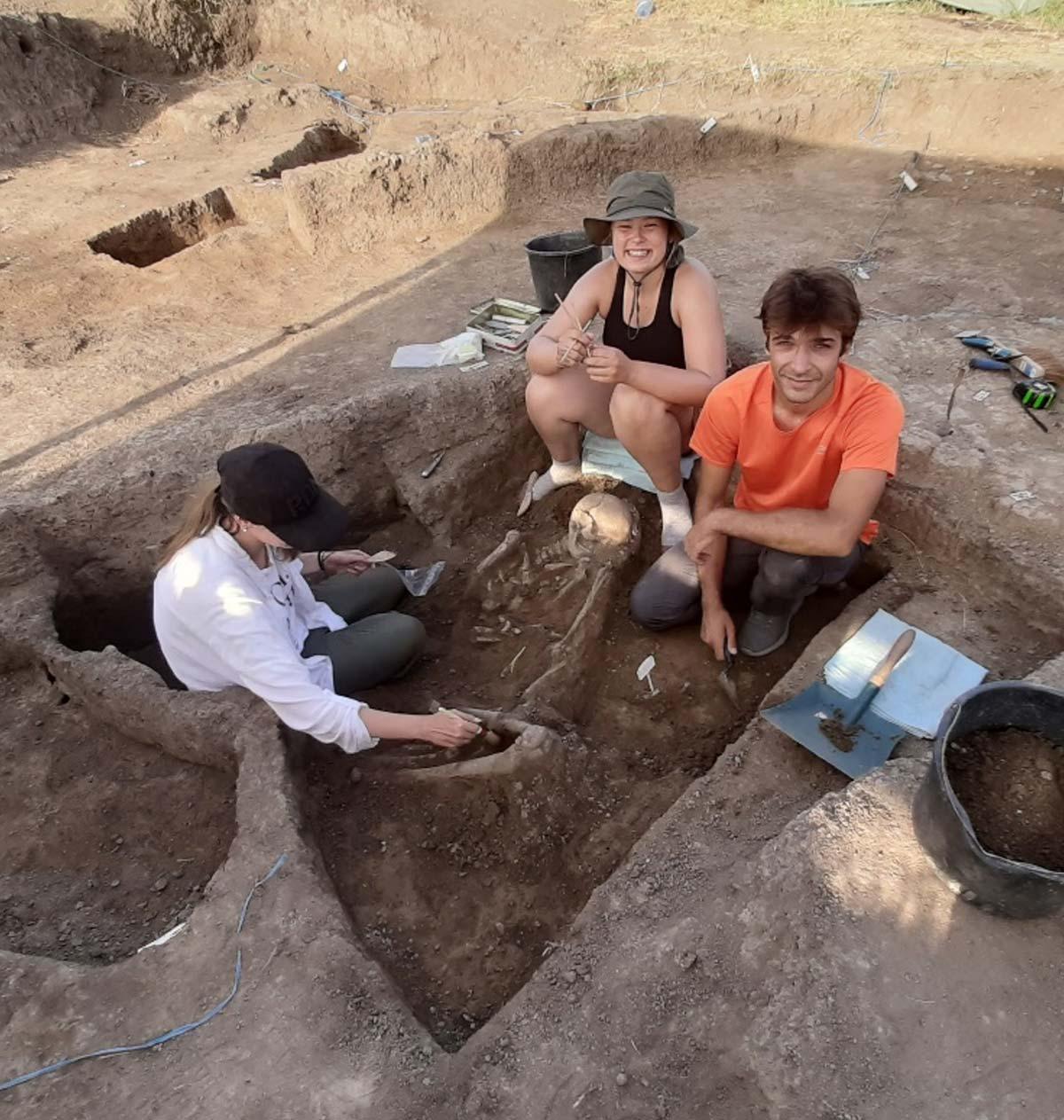 Ausgrabung Bestattung
