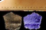 Abdrücke von Textilien auf bronzezeitlicher Keramik vom Fundplatz Bruszczewo, Polen.
