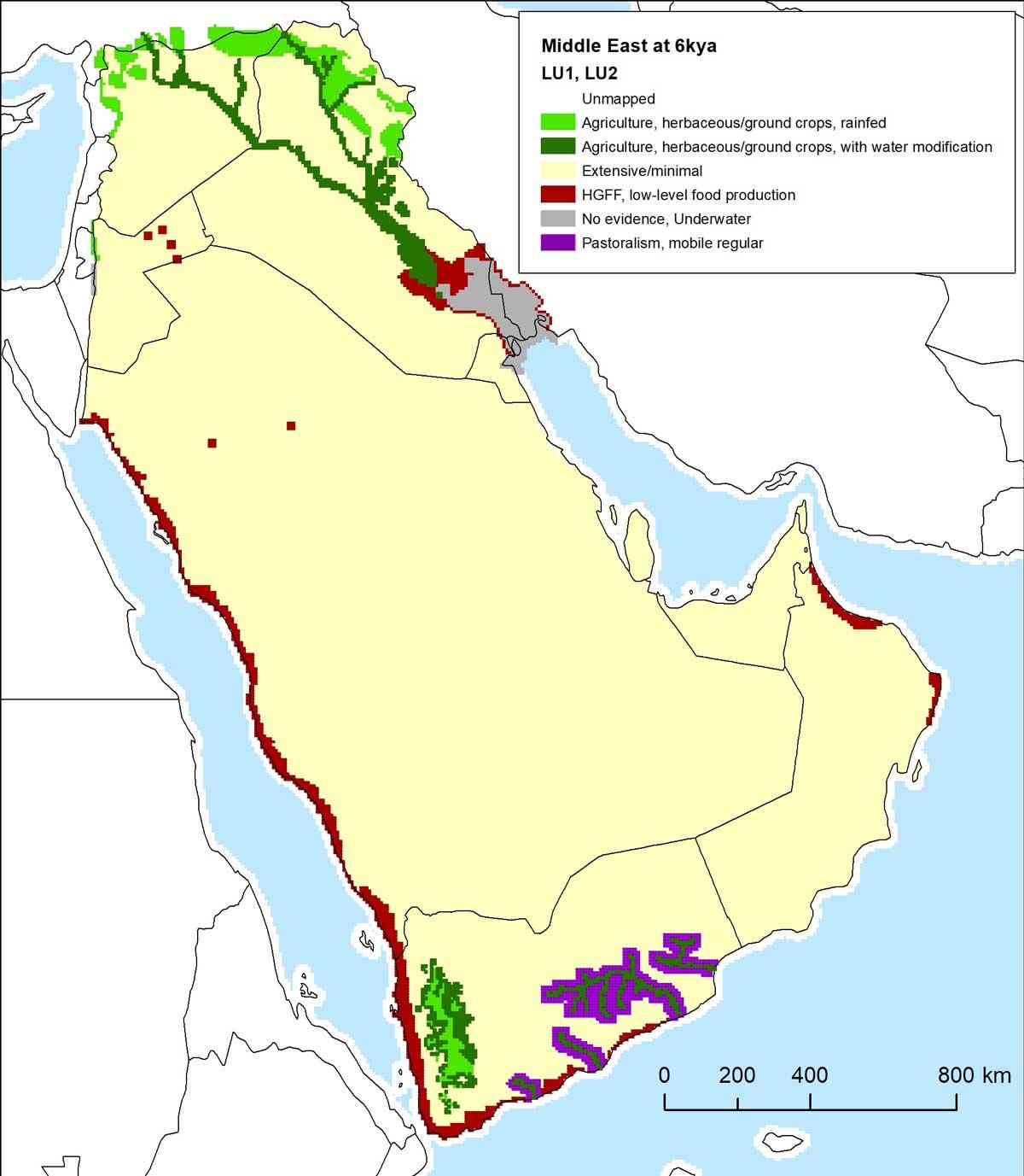 Karte Arabische Halbinsel