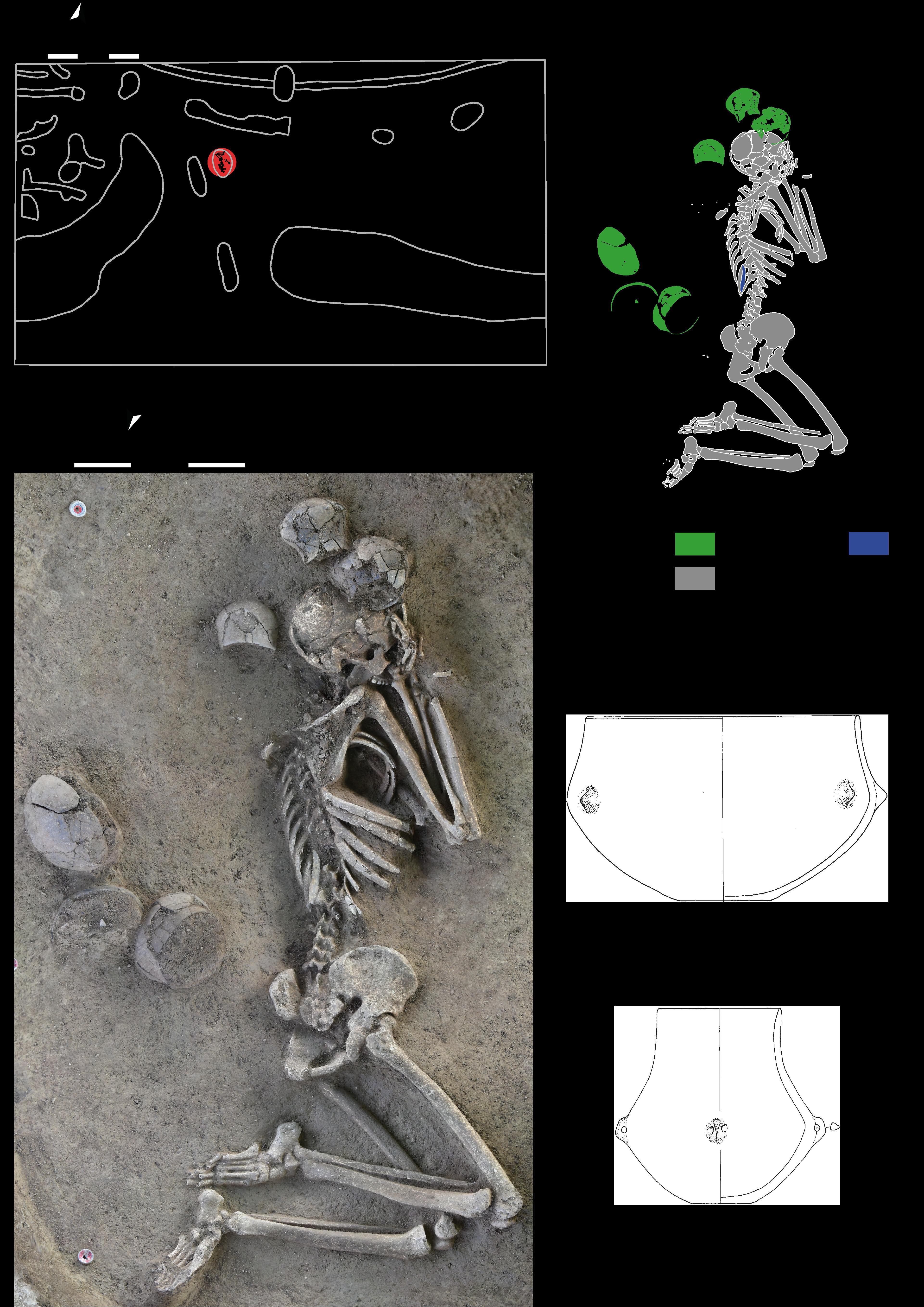 Bestattungen mit Pre-Lengyel-Gefäßen als Grabbeigaben