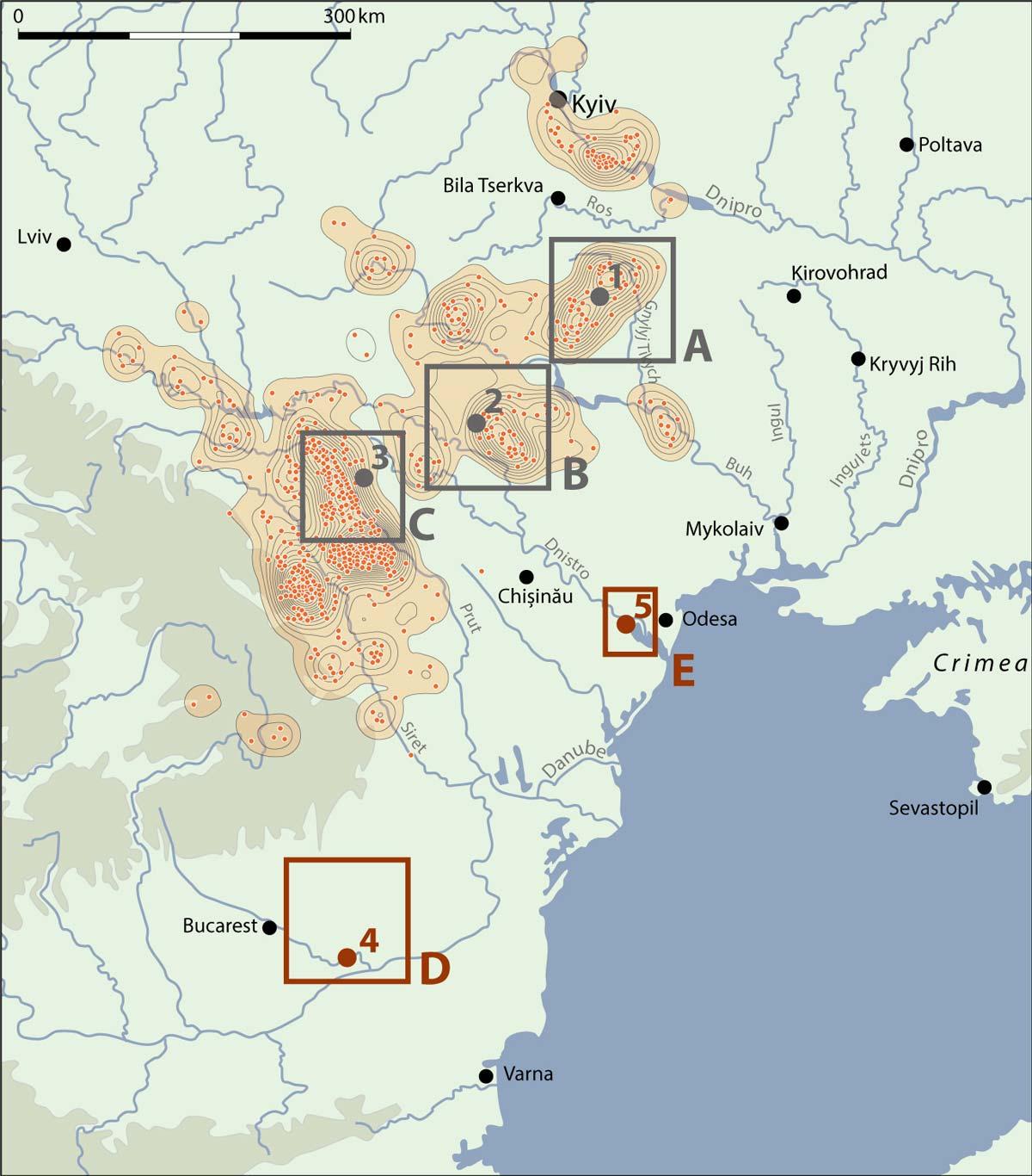Karte mit Untersuchungsgebieten