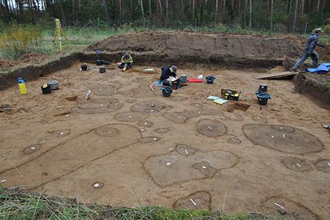 Excavation at Dobbin 2019 in autumn 2019