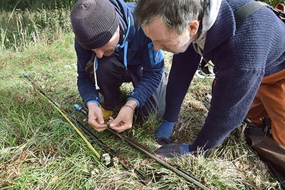 Sediment prospection with gouge corer and sub-sampling for preliminary pollen analyses in a peatland close to the Bronze Age settlement near Dobbertin, Mecklenburg-Vorpommern